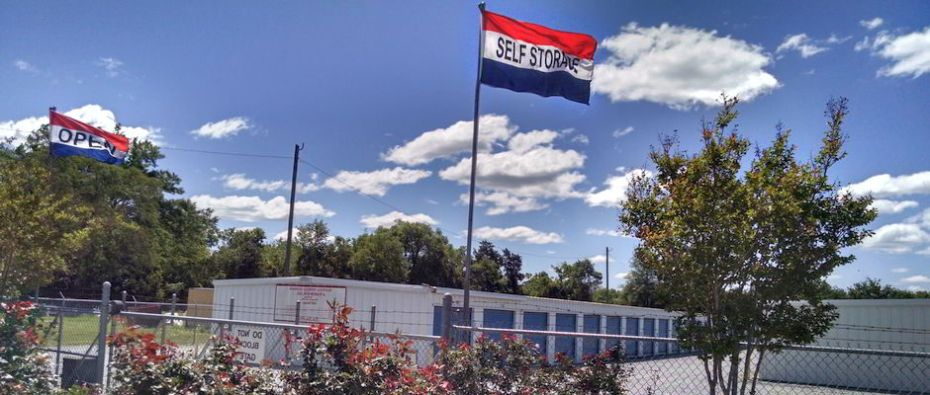 Mini Storage in Montgomery, AL - self storage under the red, white & blue flags