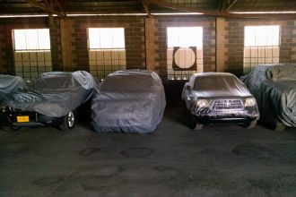 Car Storage in Montgomery, AL - indoor car storage with drop cloths